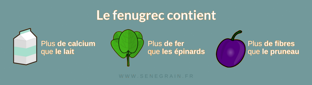 Composition du fenugrec